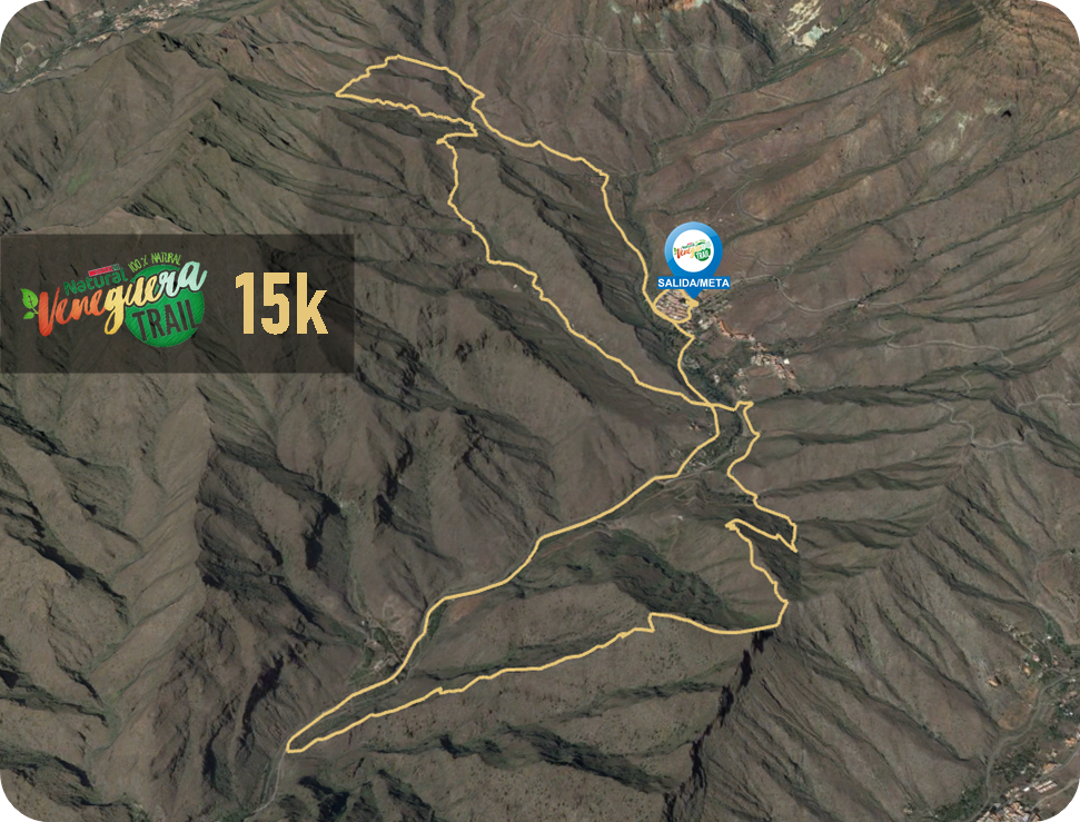Recorrido 15K Veneguera Trail 2020