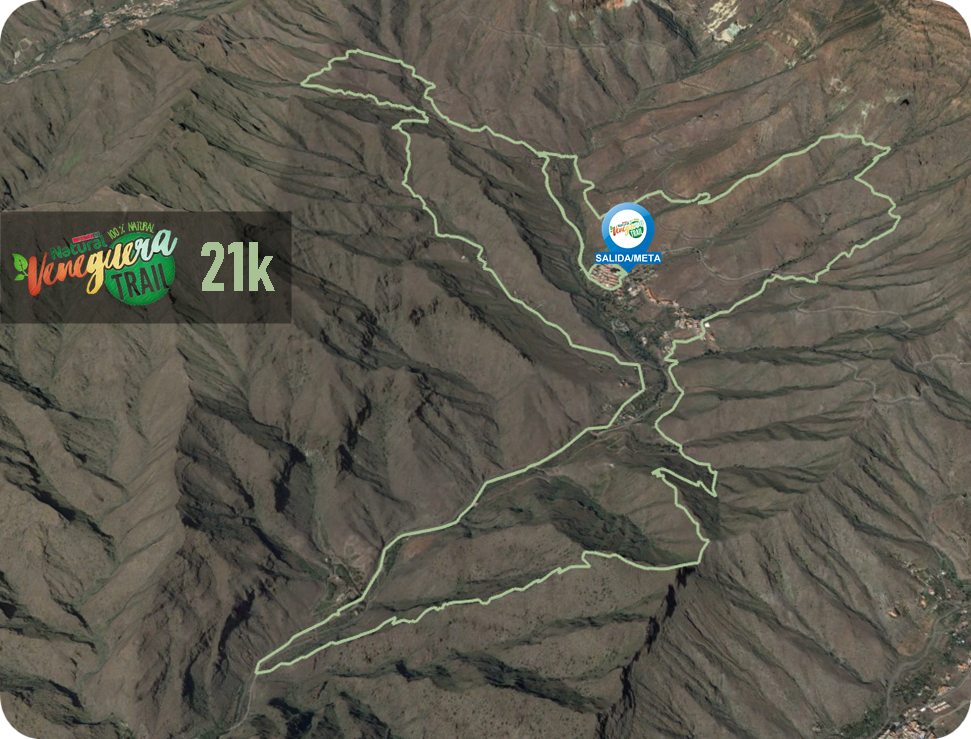 Recorrido 21K Veneguera Trail 2020
